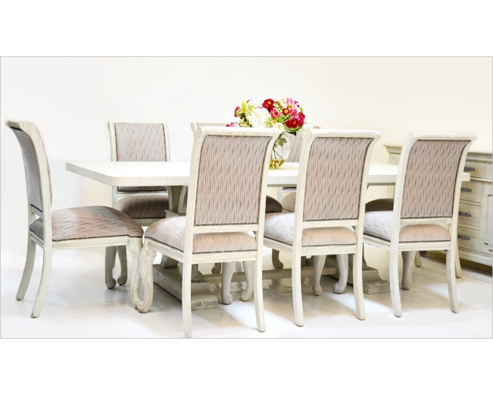 St James Dining Room Suite - 8 Seater (Oatmeal)